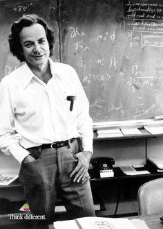 Richard Phillips Feynman - May 11, 1918 – Feb 15, 1988. 1965 – Nobel Prize in Physics for development of quantum electrodynamics. #Apple #SteveJobs #iPhone #Macintosh #Woz #Museum #Prague #Czech #CzechRepublic #Europe #World #Travel #Think #Different