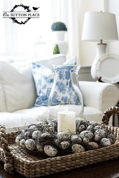 Spring Coffee Table Vignette | On Sutton Place