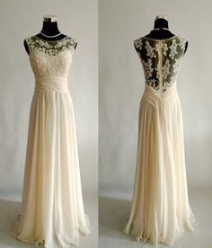 Satin, chiffon and lace - $145