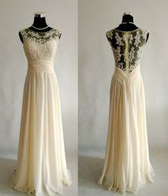 Chiffon Lace Sheath Wedding Dress Zipper Back · Onlyforbrides · Online Store Powered by Storenvy