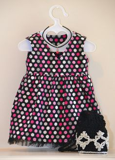 American Girl V-neck Dress, Crocheted Purse and Necklace by Simply 18 Inches.  Sold via eBay auction.