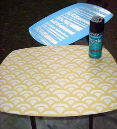 Stenciled TV trays!