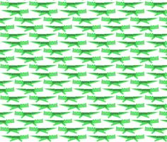alligator fabric by anda on Spoonflower - custom fabric  I made Dylan a blanket out of this fabric.  So cute...