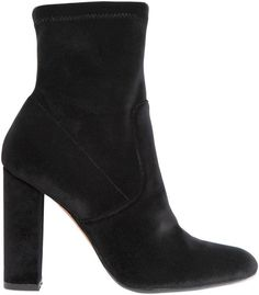 Stretch Velvet Black Ankle Boots | $126 | Chunky Heel | Fall 2016