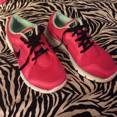 Nike flex Pink, mint green, and black Nike Shoes Athletic Shoes