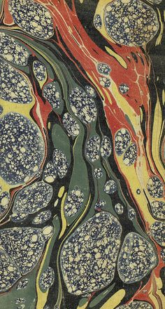 Vintage 19th c. marbled paper, Gloster pattern