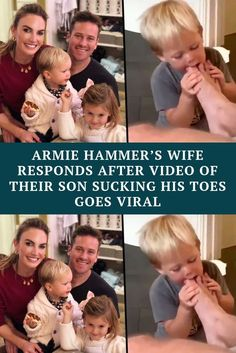Armie Hammer's Wife Responds After Video of Their Son Sucking His Toes Goes Viral Celebrity Gossip, Celebrity News, Celebrity Style, Armie Hammer Wife, Trending Photos, Viral Trend, Celebs, Celebrities, Sons