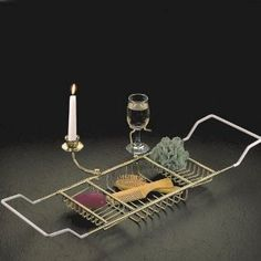 Taymor Chrome Bathtub Caddy with Candle Holder & Wine Glass Holder Caddies NEW Candlestick Holders, Candlesticks, Bathtub Caddy, Christmas Gift For You, Christmas 2016, Christmas Presents, Wine Glass Holder, Relaxing Bath, Wine Gifts