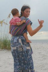 Great instructions for carrying toddler on your back with a wrap!