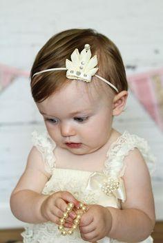 Princess Tiara Crown Ribbon Sculpture Headband. Tiara Baby Headband. Flat Version. Tiara Crown Clip.  Free Ship Promo