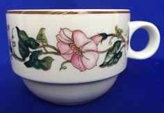 Villeroy & Boch Palermo Pattern Coffee Cup Morning Glory Porcelain China Pink #VilleroyBoch