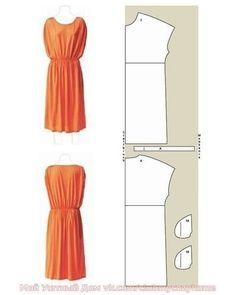 Простые выкройки платьев для начинающих