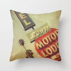 Loop Motel Throw Pillow