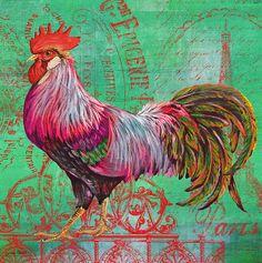 I uploaded new artwork to fineartamerica.com! - 'Le Rooster Heaven-c' - http://fineartamerica.com/featured/le-rooster-heaven-c-jean-plout.html via @fineartamerica