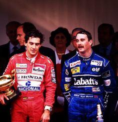 Senna vs Mansell Monaco 1992