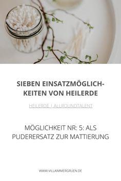 Heilerde |Allroundtalent - Möglichkeit Nr. 5: Als Puderersatz zur Mattierung Oil Control, Organic Beauty