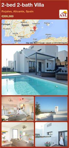 2-bed 2-bath Villa in Rojales, Alicante, Spain ►€205,000 #PropertyForSaleInSpain