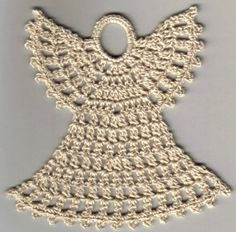FREE Easy Crochet Christmas Angel Ornament Pattern