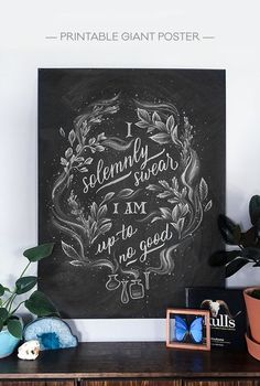 I solemnly swear I am up to no good - Printable Harry Potter poster, perfect for Halloween