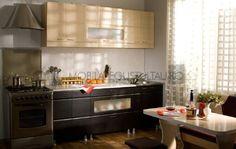 Mobila de bucatarie mica cu fronturi din MDF Kitchen Cabinets, Home Decor, Decoration Home, Room Decor, Cabinets, Home Interior Design, Dressers, Home Decoration, Kitchen Cupboards