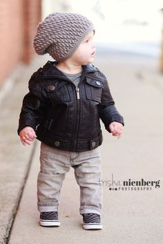 Crocheted big kid hipster beanie by APieceaCake on Etsy