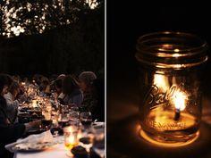 ball jars (for tea lights).