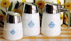 908 Salt/Pepper Shaker, 930 Cream & Sugar, 'blue cornflower'