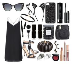 """""""Black cat! #155"""" by lauren-yarrow ❤ liked on Polyvore featuring Fendi, Fleur du Mal, Miss Selfridge, Bobbi Brown Cosmetics, Fujifilm, Gianvito Rossi, NARS Cosmetics, Marc by Marc Jacobs, BERRICLE and The New Black"""