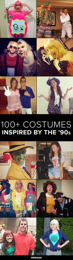 Following on the 90s grunge trend this #AW14 - Here are 106 Halloween Costume Ideas Inspired by the '90s - love the mask (Jim Carrey) costume...x