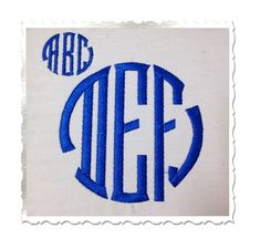 $3.95 Seal Monogram Machine Embroidery Font - 3 Sizes