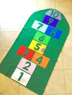 Himmel und Hölle Mat & Sitzsack, Kinder Spiel Schule Familie Karneval Wiedervereinigung Spielaktivität Idee spielen im freien Spielmatte Matte Teppich Teppich Spielzeug Kleinkind nach Hause