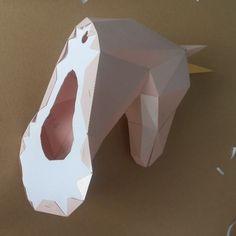 Unicorn Head Papercraft