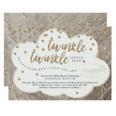 Twinkle Twinkle Little Star Unisex Baby Shower Card - customize create your own #personalize diy & cyo