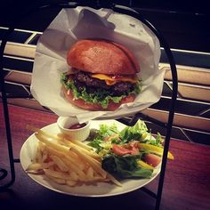 New burger joint in #Arashiyama called Cross.  They have limited seating and mebu options but great #burger sets.  All include salad fries and craft beer. #foreverkyoto