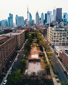Shot of Toronto's downtown core. The CN Tower is the tallest structure. Toronto Street, Toronto City, Toronto Travel, Downtown Toronto, Travel Around The World, Around The Worlds, Toronto Ontario Canada, Toronto Skyline, Cities