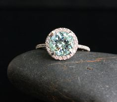 Aquamarine ring. I want this so badly!!
