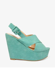 Cross Strap Wedge Sandals | FOREVER21 - 2030187596