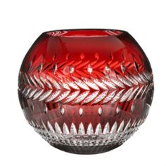 Waterford ruby case crystal rose bowl
