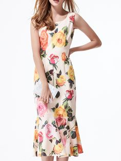 Shop Apricot Flowers Print Frill Dress online. SheIn offers Apricot Flowers Print Frill Dress & more to fit your fashionable needs.