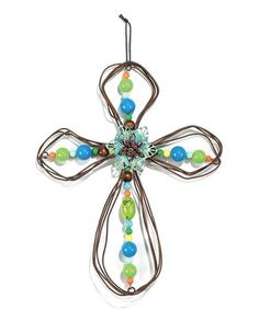 Another great find on #zulily! Teal Metal Wall Cross #zulilyfinds