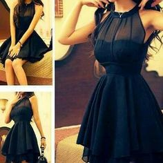 Beautiful black dress. pretty for a bridesmaid in another colour