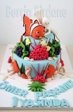 Kayip Balik Nemo 1 yas pastasi