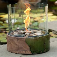 So peaceful looking....Find it at the Foundary - 13.8 in. Clover Fire Ring Pot