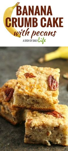 Cross banana bread with crumb cake and you get this absolutely delicious Banana Crumb Cake with Pecans!