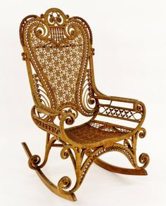 Victorian Wicker Rocking Chair : Lot 754