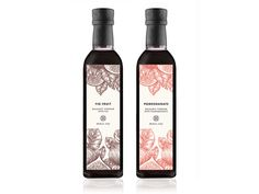 Bella Grace Balsamic Vinegar Label designed by Jolene Stark for Different Beast. Label Design, Packaging Design, Branding Design, Organic Vinegar, Fig Fruit, Food Branding, Balsamic Vinegar, Bottle Labels, Pomegranate