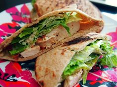 Chicken Caesar Pocket  Calories: 227, Fat 5g, Carbs 20g, Protein 31g    Ingredients:        Whole Wheat Pita Pocket W/Honey      1 Cup Romaine Lettuce      1 Tbsp Caesar Dressing      2 Tbsp Parmesan Cheese      1 Unit Grilled Chicken       Parmesan Garlic Seasoning       Cooking Spray      1 Slice Turkey Bacon