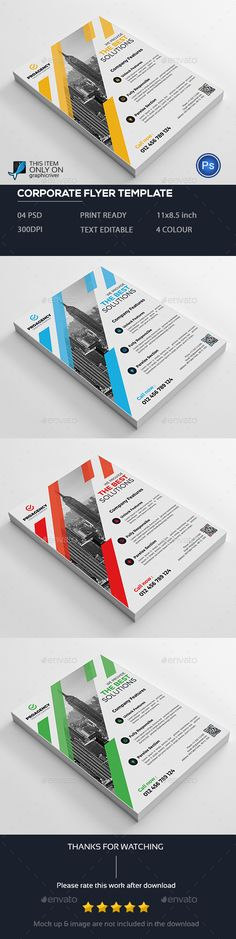 Corporate Flyer Flyer template and Flyer design templates - psd brochure design inspiration
