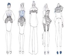 things to draw sketch Fashion Illustration Template, Illustration Mode, Fashion Design Portfolio, Fashion Design Sketches, Fashion Drawings, Fashion Illustrations, Moda Fashion, Fashion Art, Fashion Silhouette