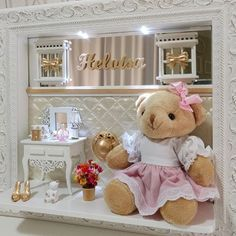 Mimos da Su (@dasumimos) | Instagram photos and videos Teddy Bear Sewing Pattern, Box Picture Frames, Baby Frame, Small Cabinet, Best Kids Toys, Dream Apartment, Frame Crafts, Mimosas, Kites